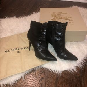 Burberry black heeled booties size 36.5